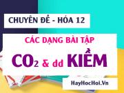 Các dạng toán CO2, SO2 tác dụng với dung dịch Kiềm NaOH,...